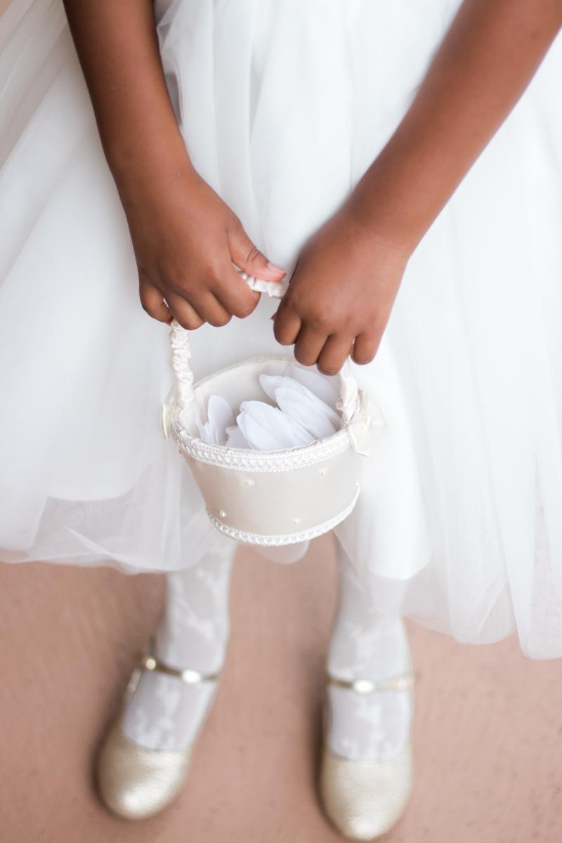 flower girl basket detail