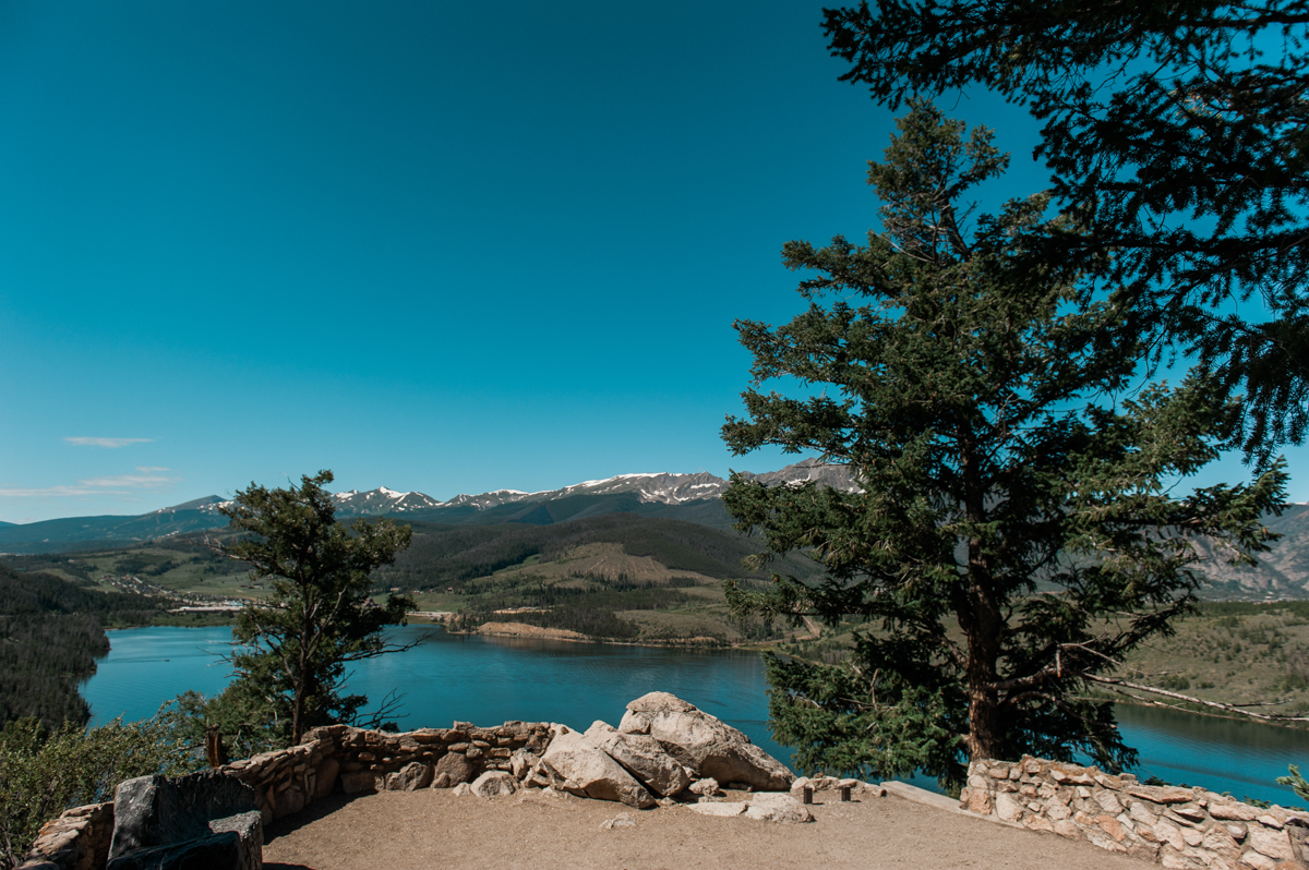 mountain elopement scenic view