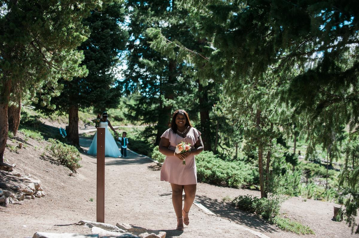 mountain elopement bridesmaid