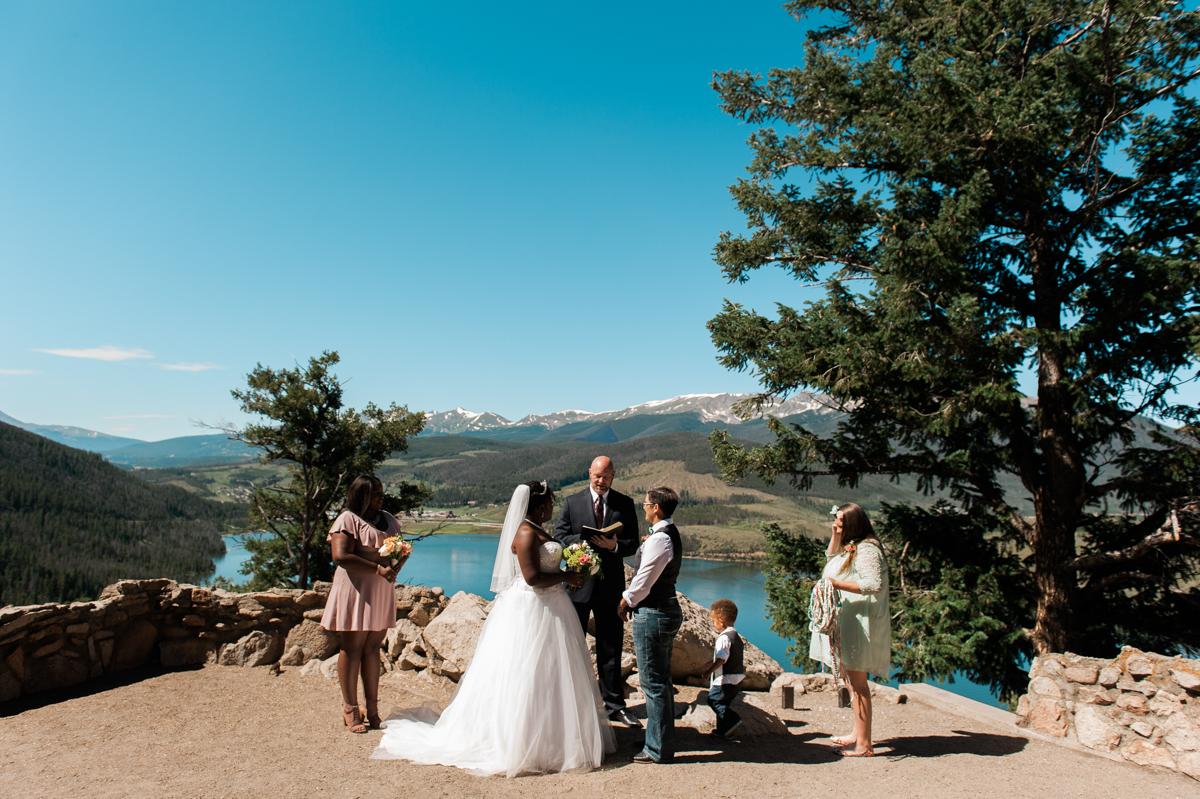 mountain elopement ceremony
