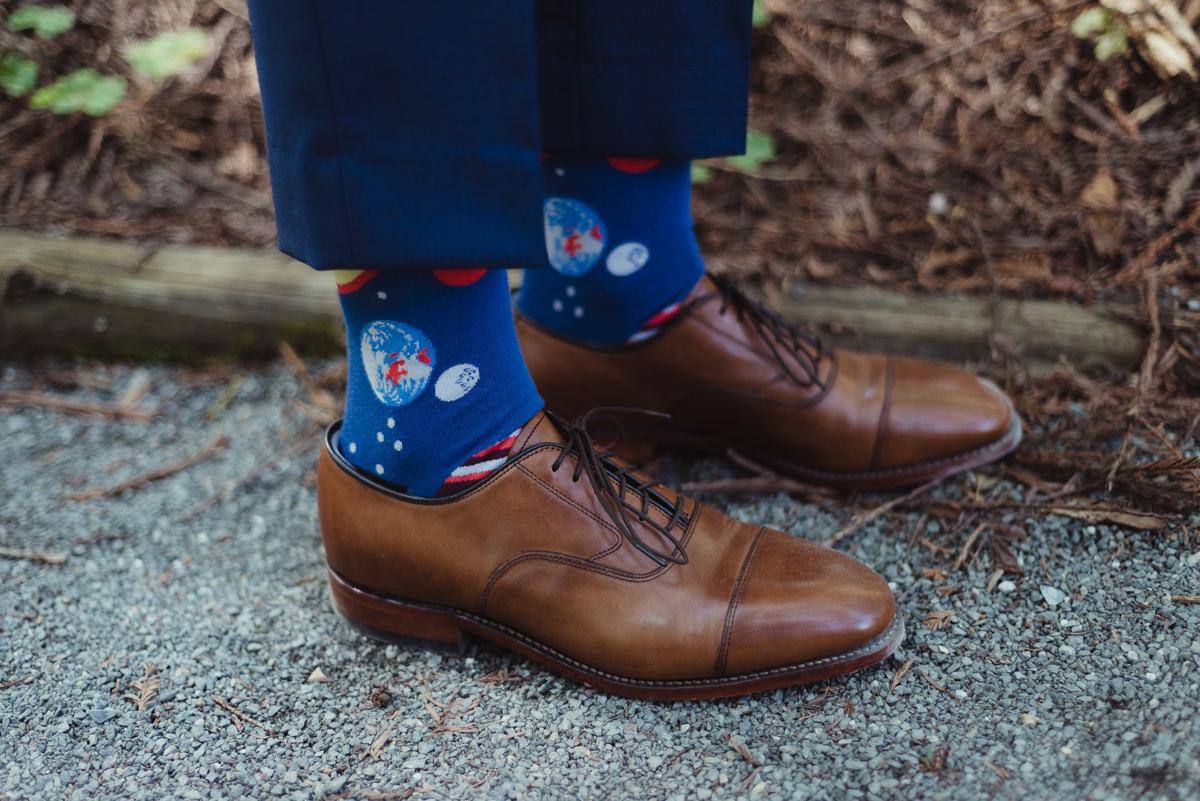 uc berkeley garden wedding lark's shoes and space socks