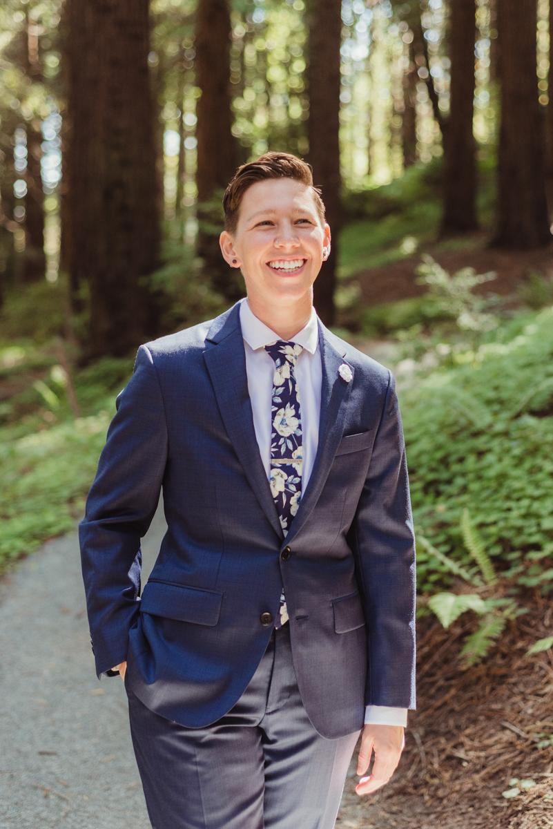 uc berkeley garden wedding lark on path