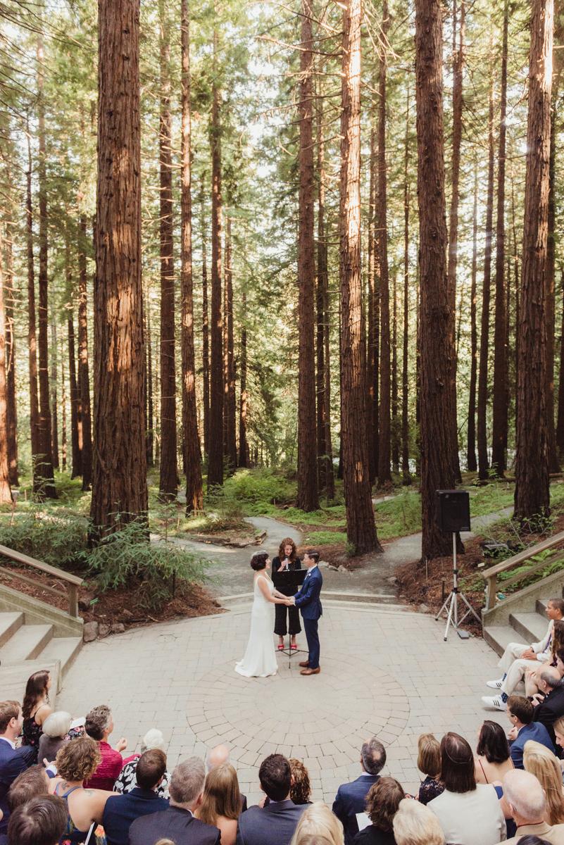 uc berkeley garden wedding ceremony