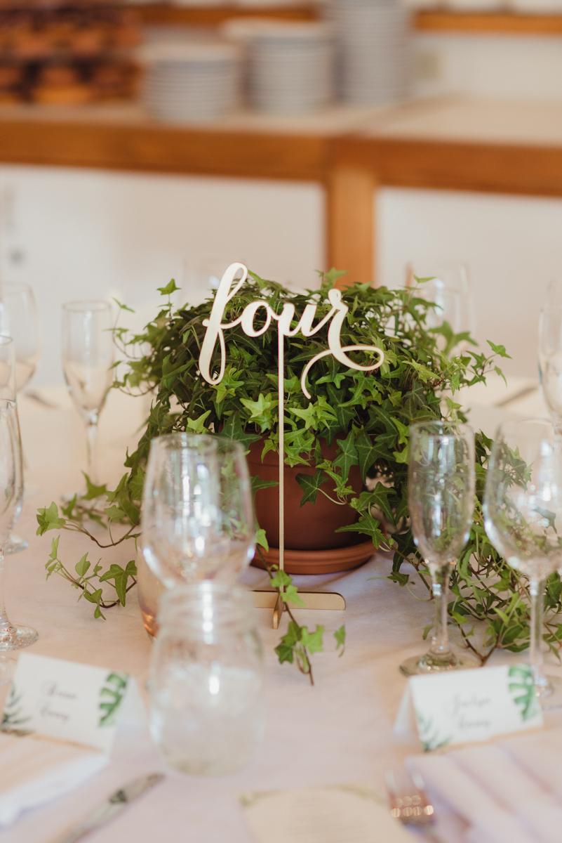 uc berkeley garden wedding table setting