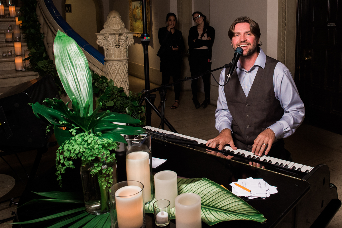 San Diego Museum of Art Wedding additional pianist performing