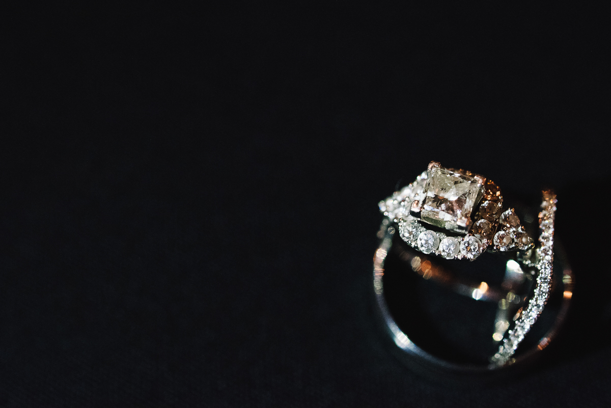 mount vernon ballroom wedding close-up engagement ring