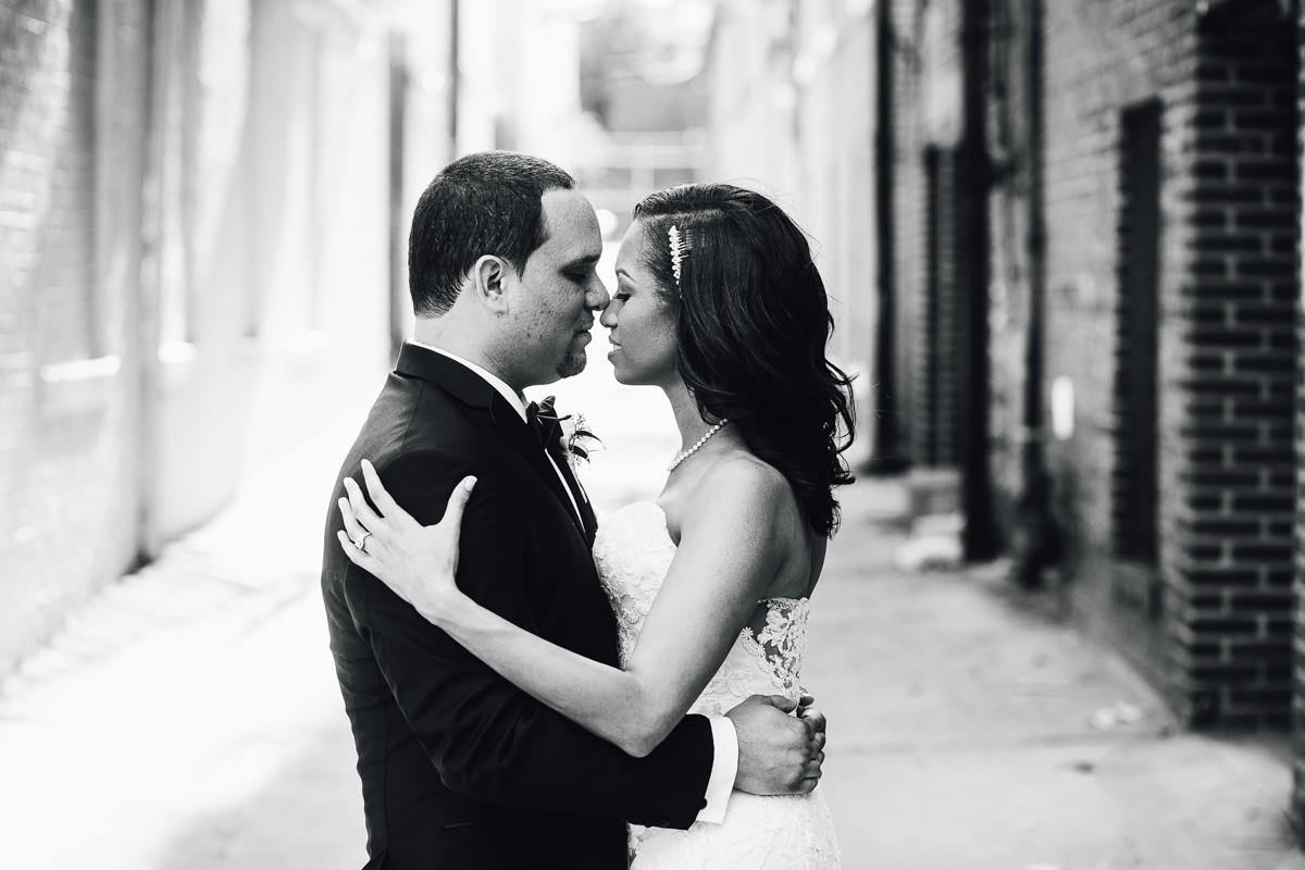 mount vernon ballroom wedding couple close