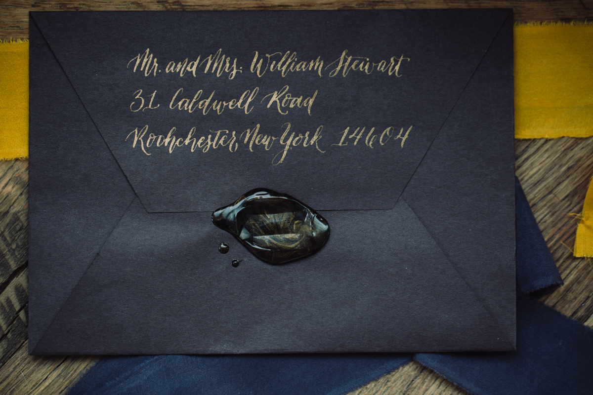 williamsburg hotel wedding shoot sealed invitation