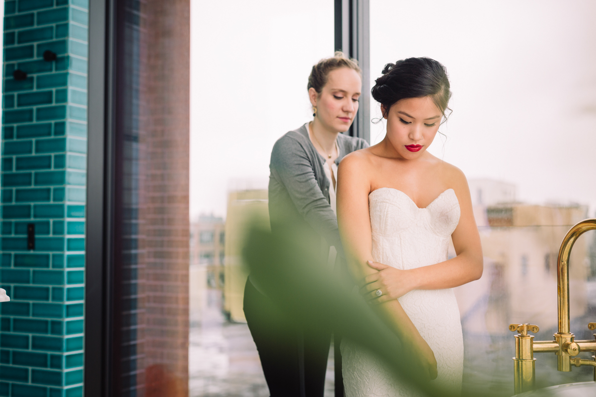 williamsburg hotel wedding shoot bride getting ready
