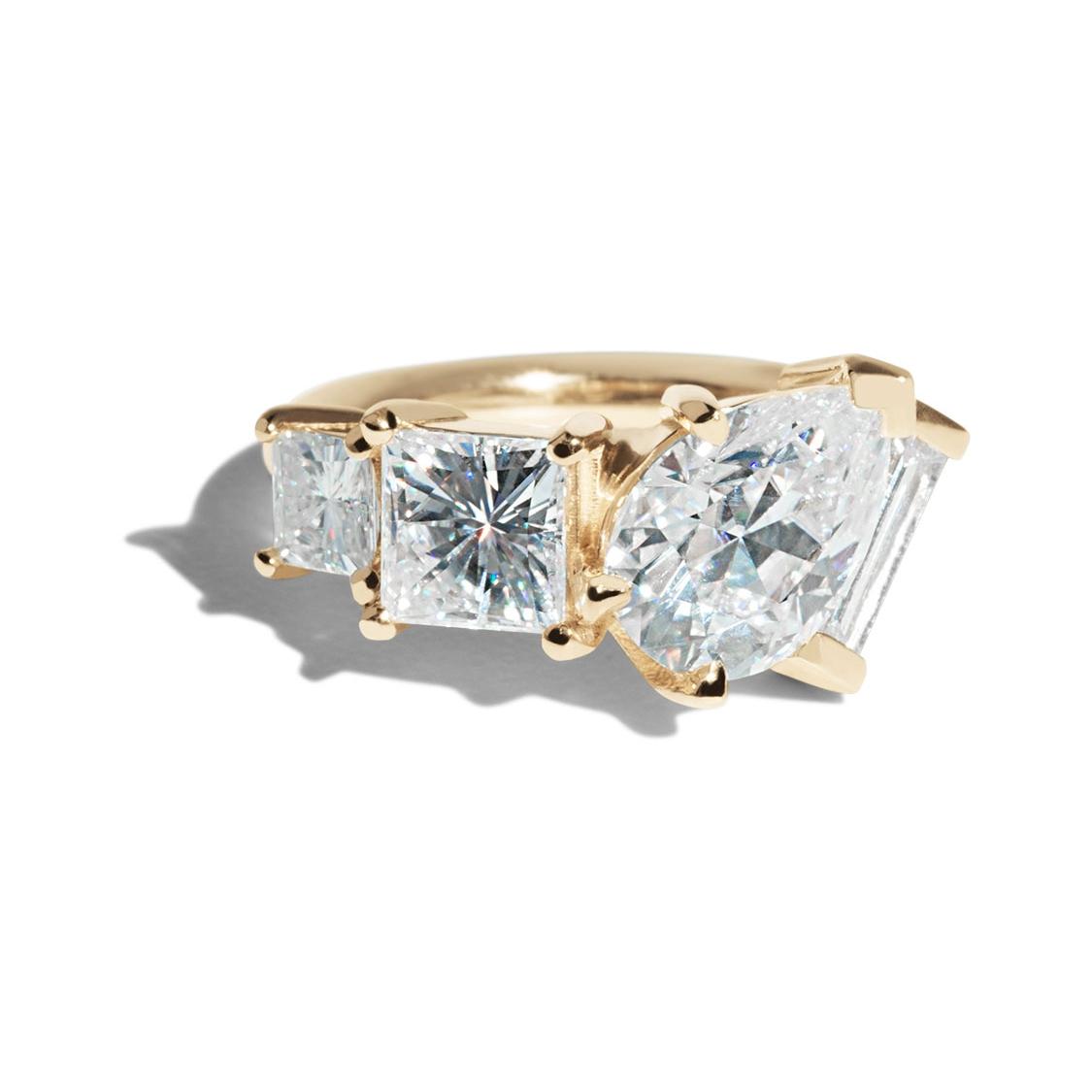 Bario Neal Custom Moissanite Linear Cluster Ring