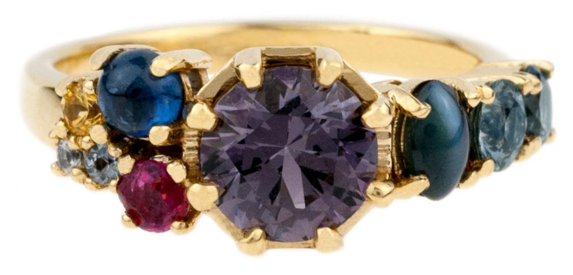 Bario Neal Custom Solar System Ring
