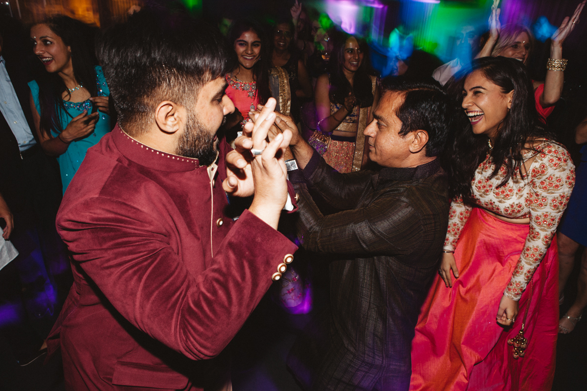 DENVER SAME-SEX INDIAN WEDDING GUESTS DANCING