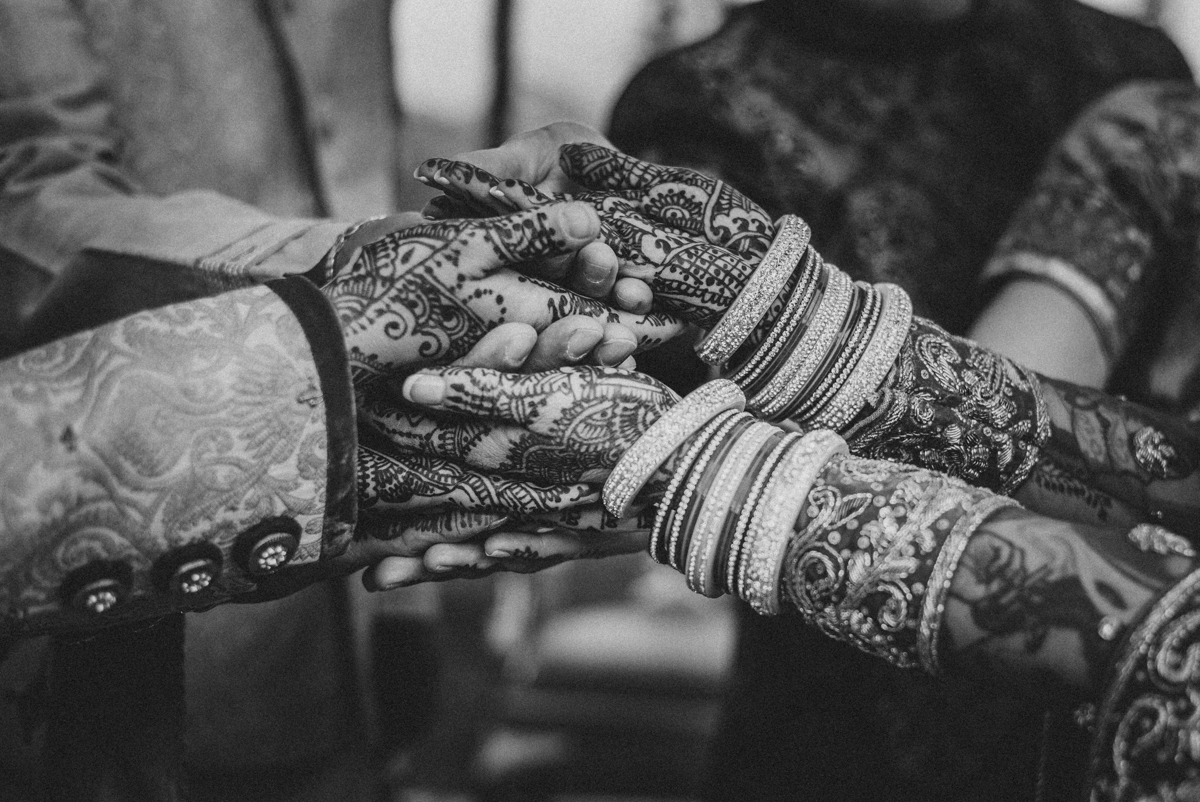 Denver Same-Sex Indian Wedding henna-covered hands