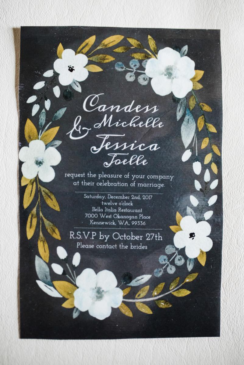 Rustic italian wedding invitation