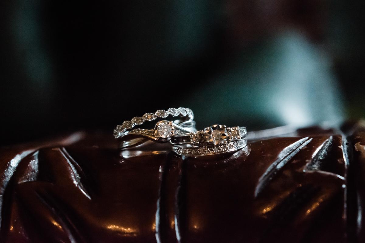 Rustic italian wedding wedding rings