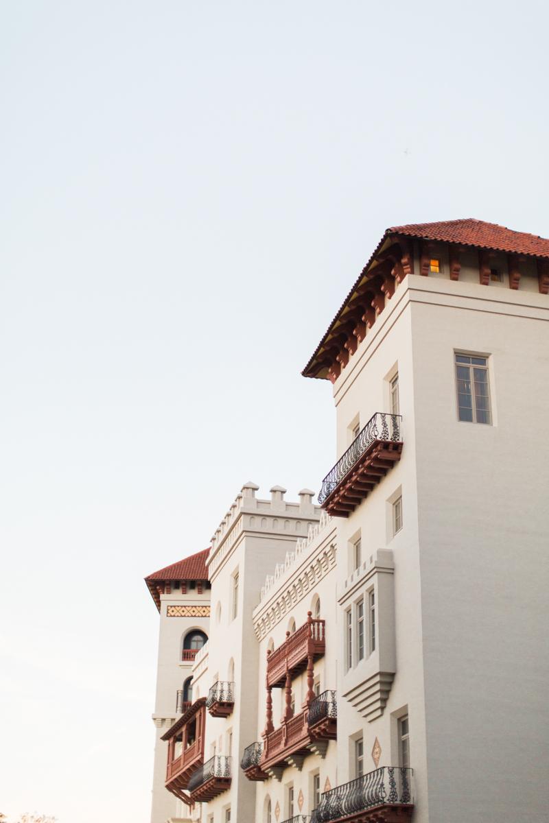 Saint augustine wedding building facade