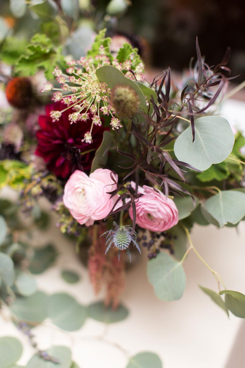 Saint augustine wedding floral table centerpiece