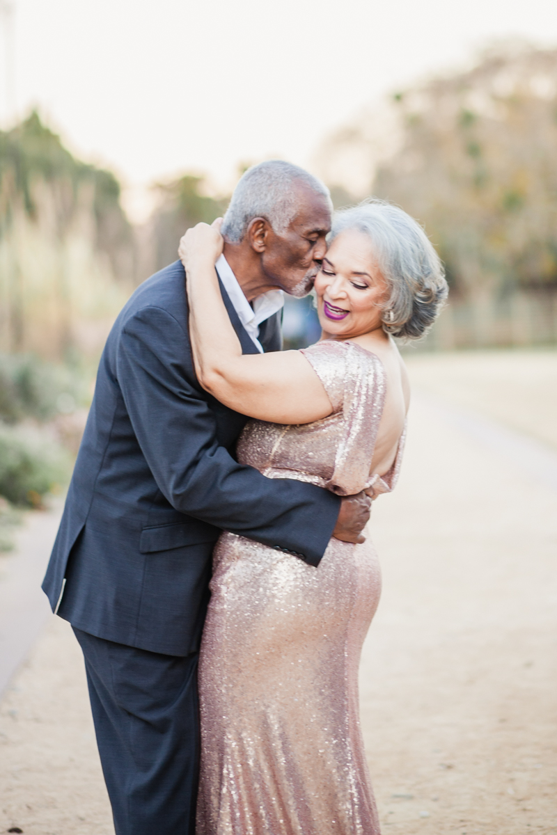 47 years of amazing photo shoot amber robinson marvin kissing wanda's cheek
