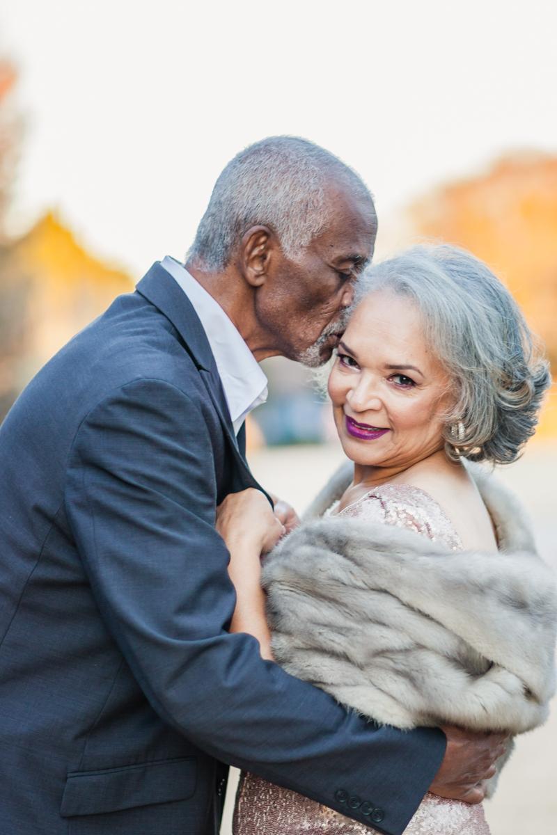 47 years of amazing photo shoot amber robinson marvin kissing wanda's forehead