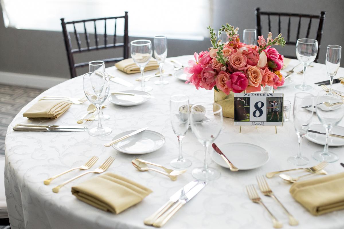 elegant, heartfelt alexandria, va wedding table settings and centerpiece