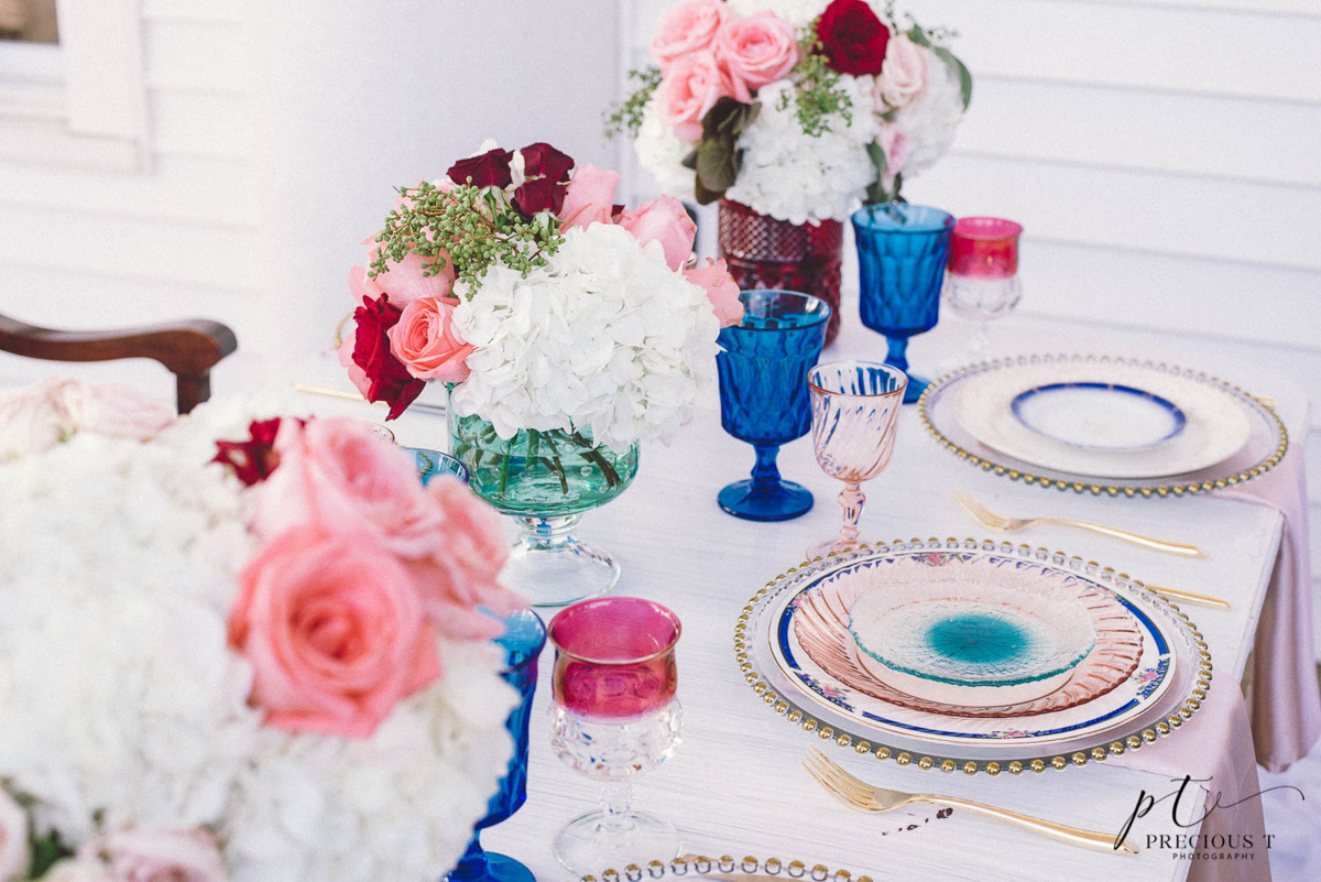 B ohemian Styled Shoot floral centerpieces and settings