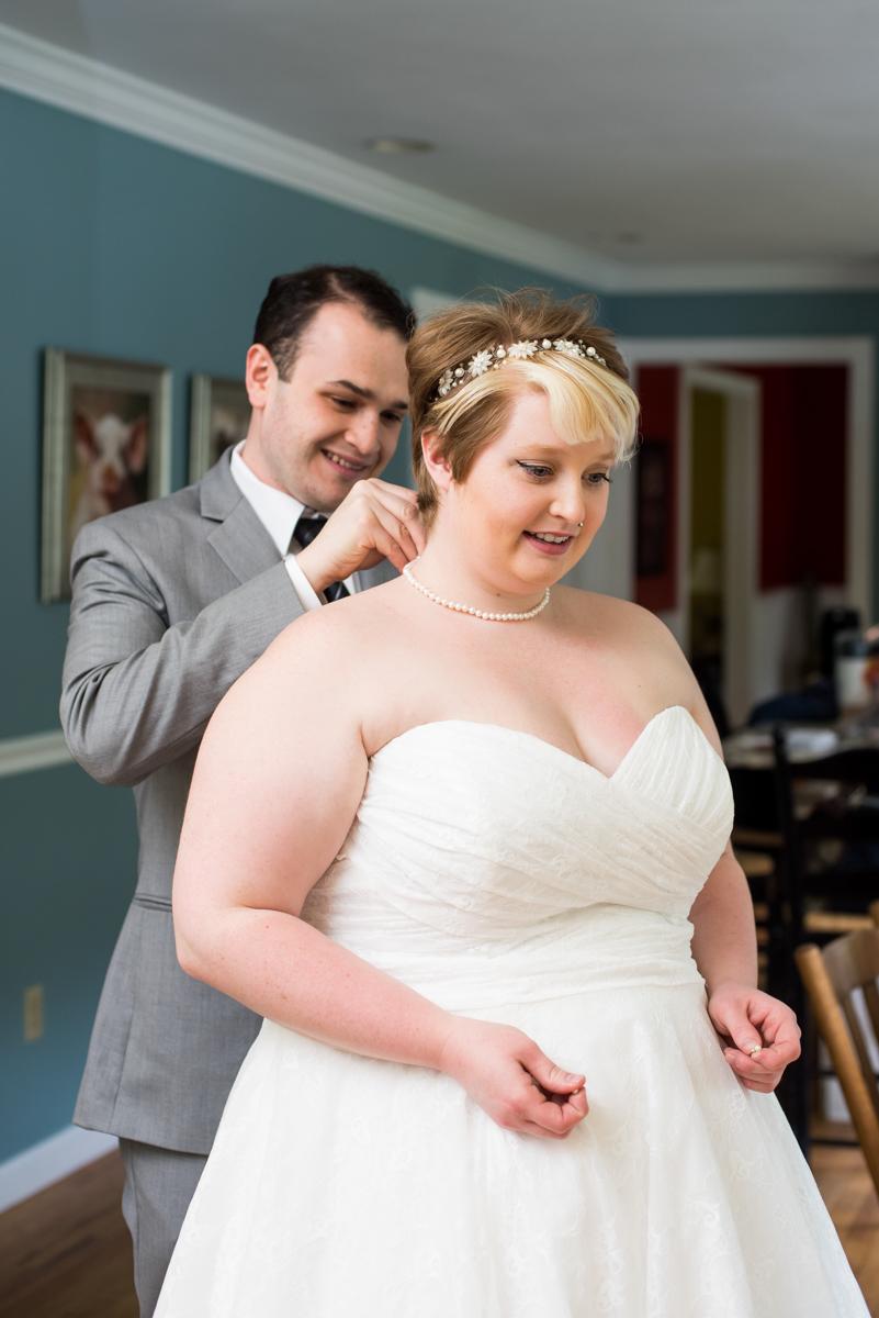 saratoga springs wedding bride getting ready