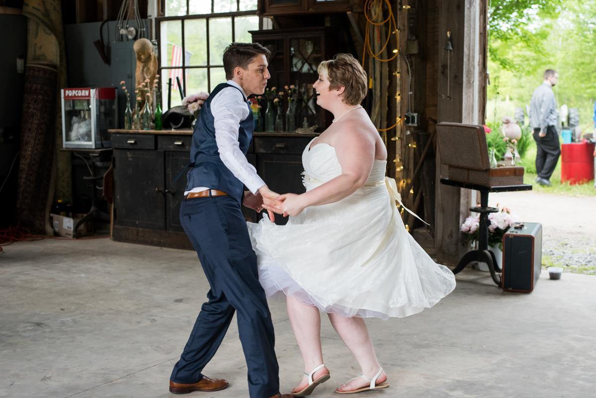 saratoga springs wedding brides dancing