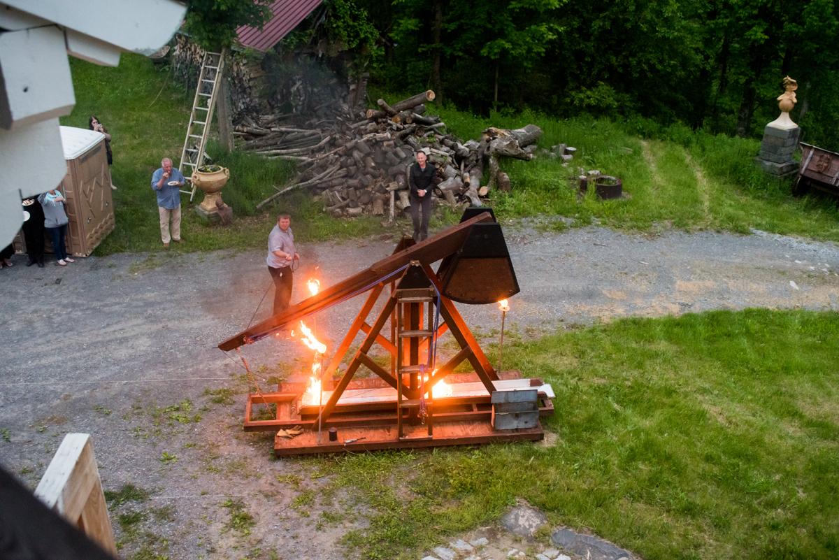 saratoga springs wedding bonfire