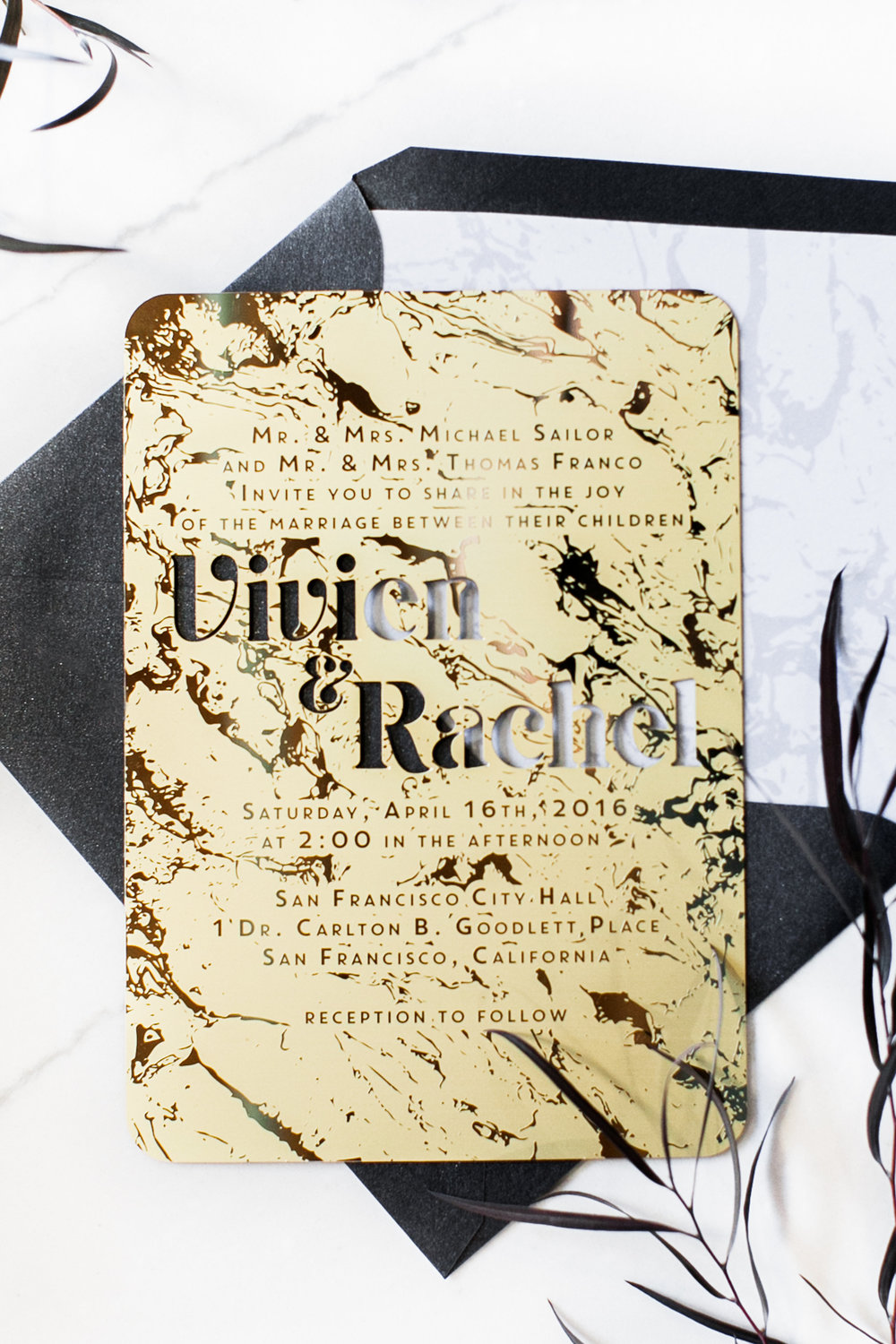 Invitations by  A Good Day, Inc.  Photos by  Buena Lane Photography