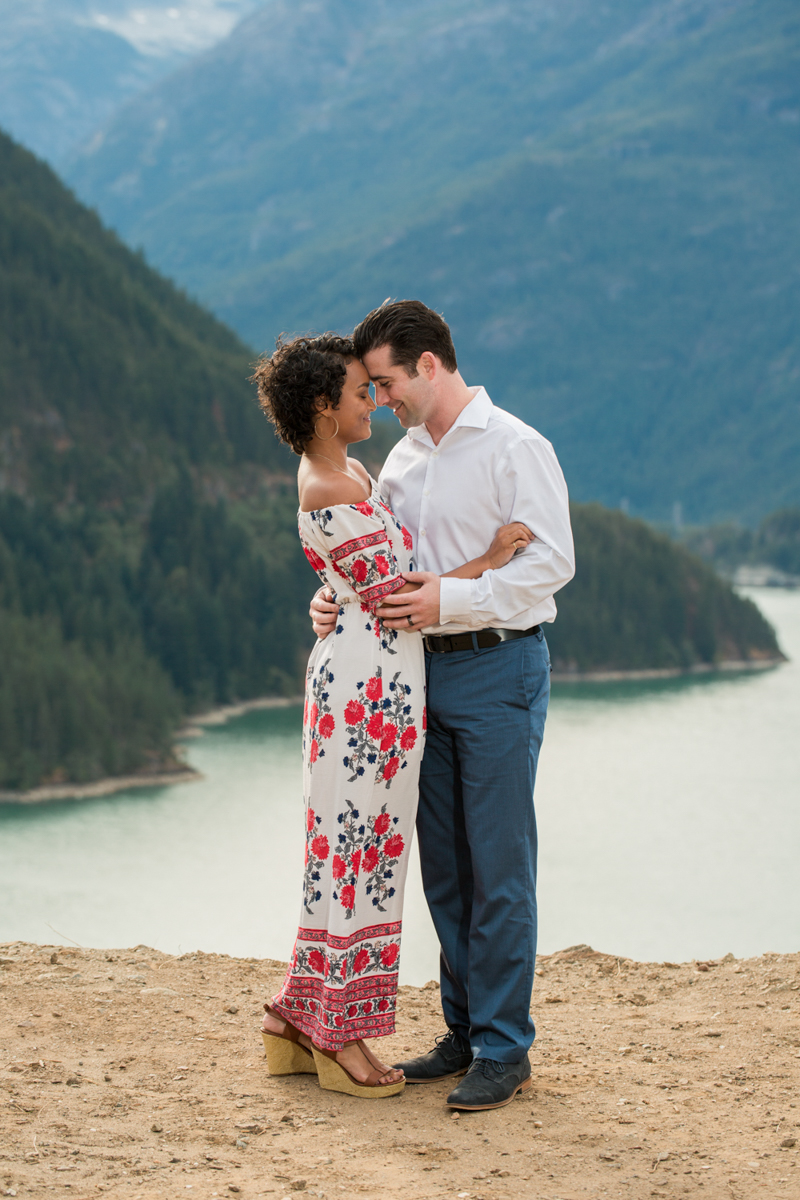 Diablo lake engagement session lyanna and michael over lake