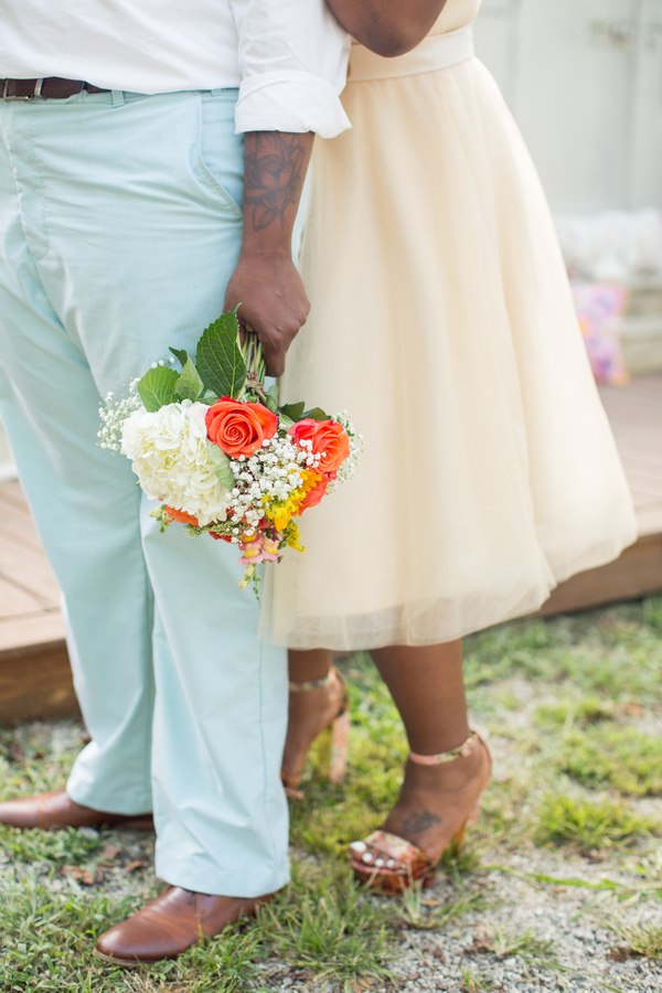 Asheville Glamping airstream trailer colorful floral casual wedding elopement inspiration in Asheville North Caroline by Jessica Hunt photography, Images by Amber Robinson and Ashton Kelley Photography