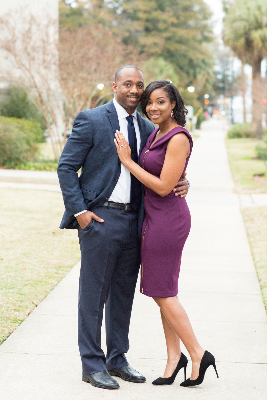 Jessica Hunt Photography Fall Autumn Engagement Session in Columbia South Carolina Clemson Alums Brent +Cass