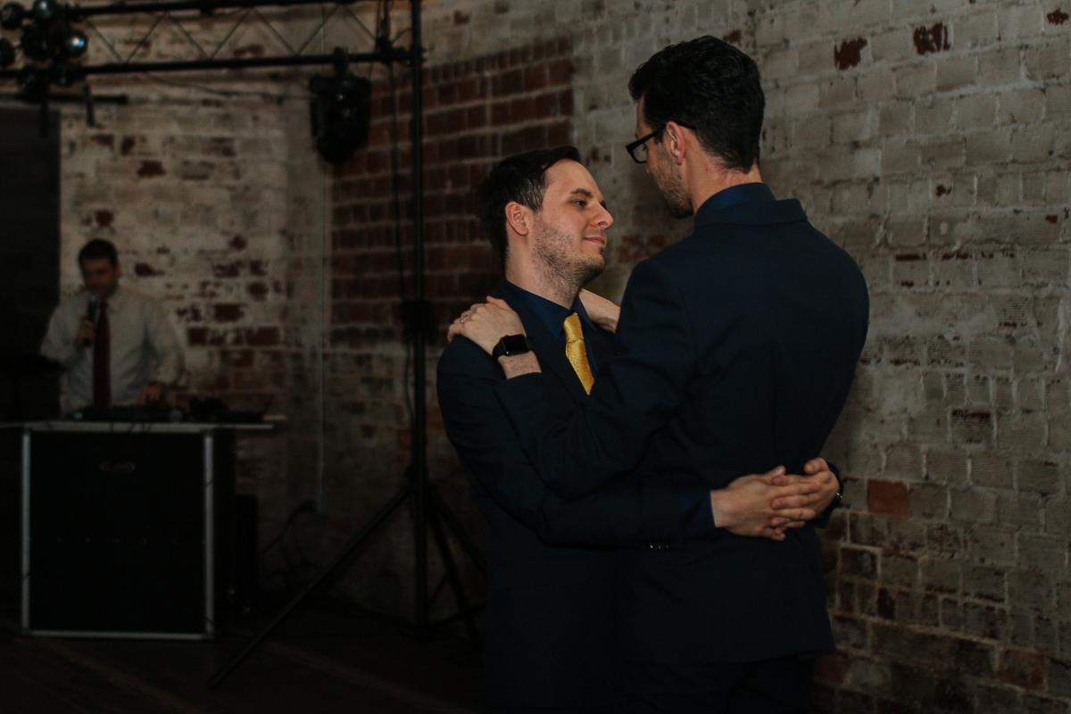 rialto theatre wedding grooms dancing