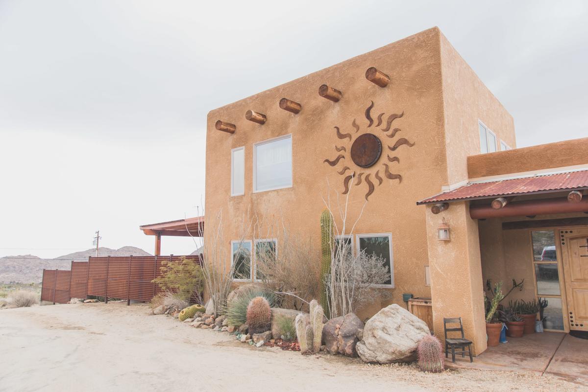 multi-cultural desert elopement outside of building