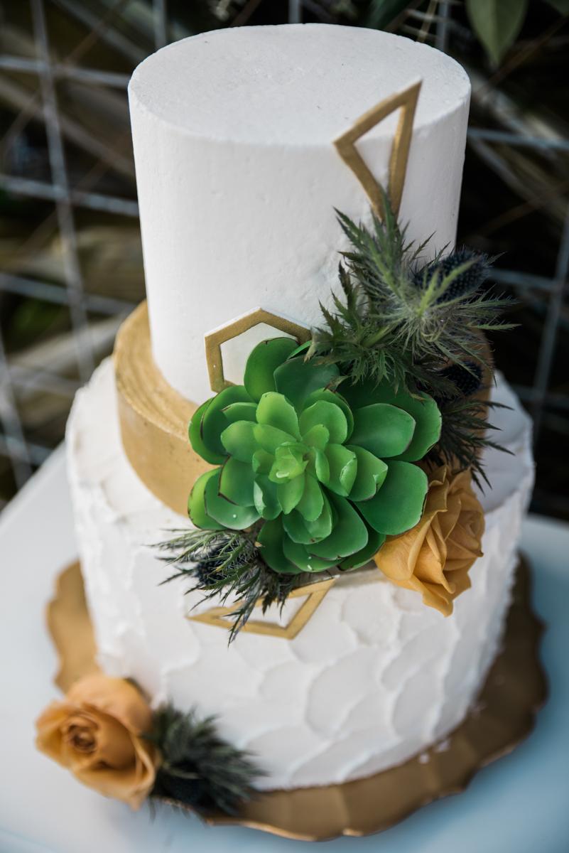 multi-cultural desert elopement wedding cake