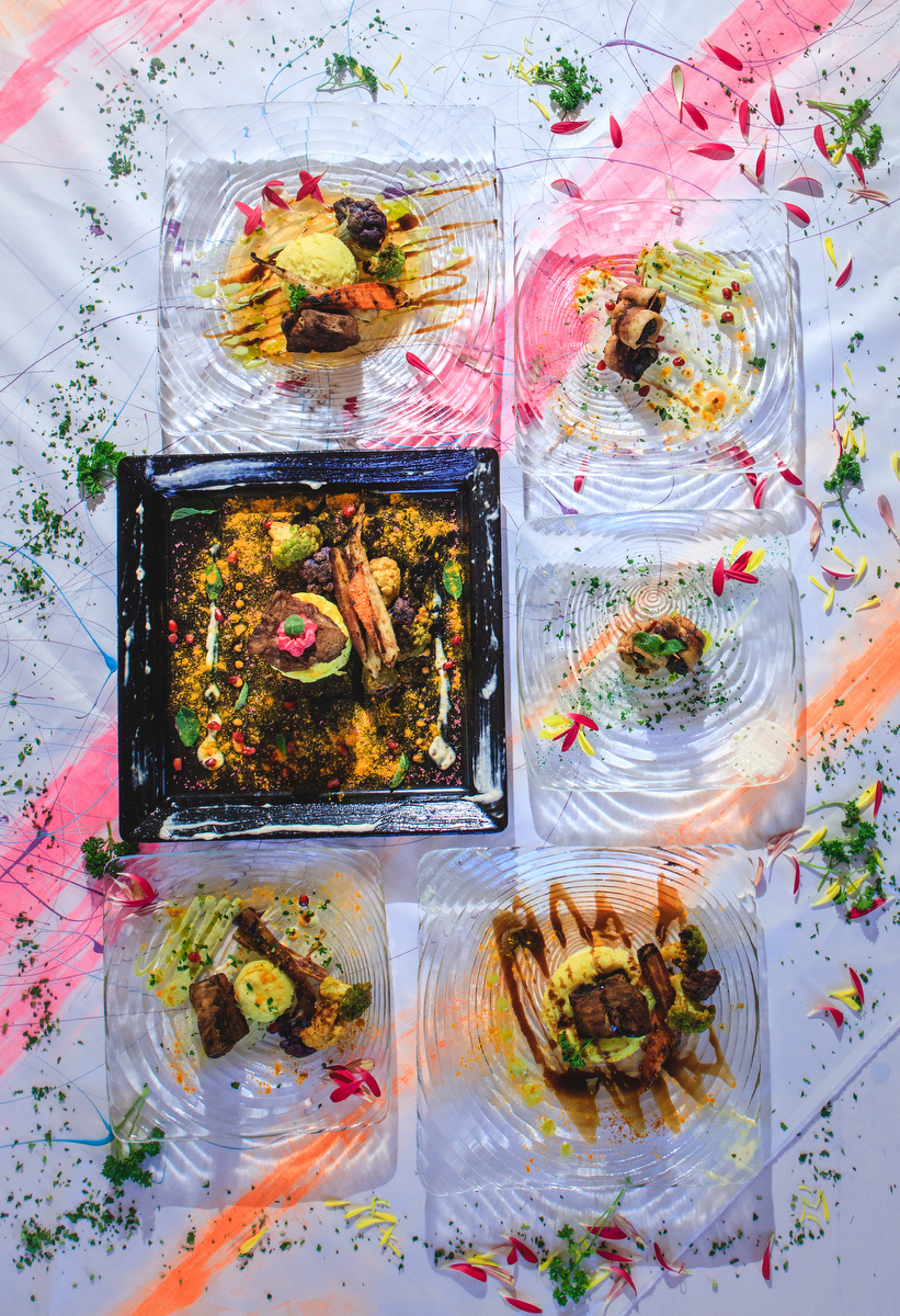 Love Out Loud Parker Colorado Styled Shoot plates with meal options