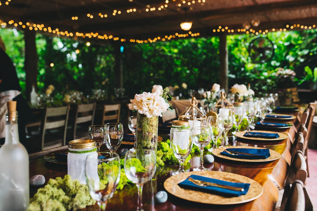 fairytale garden wedding vero beach florida guest table