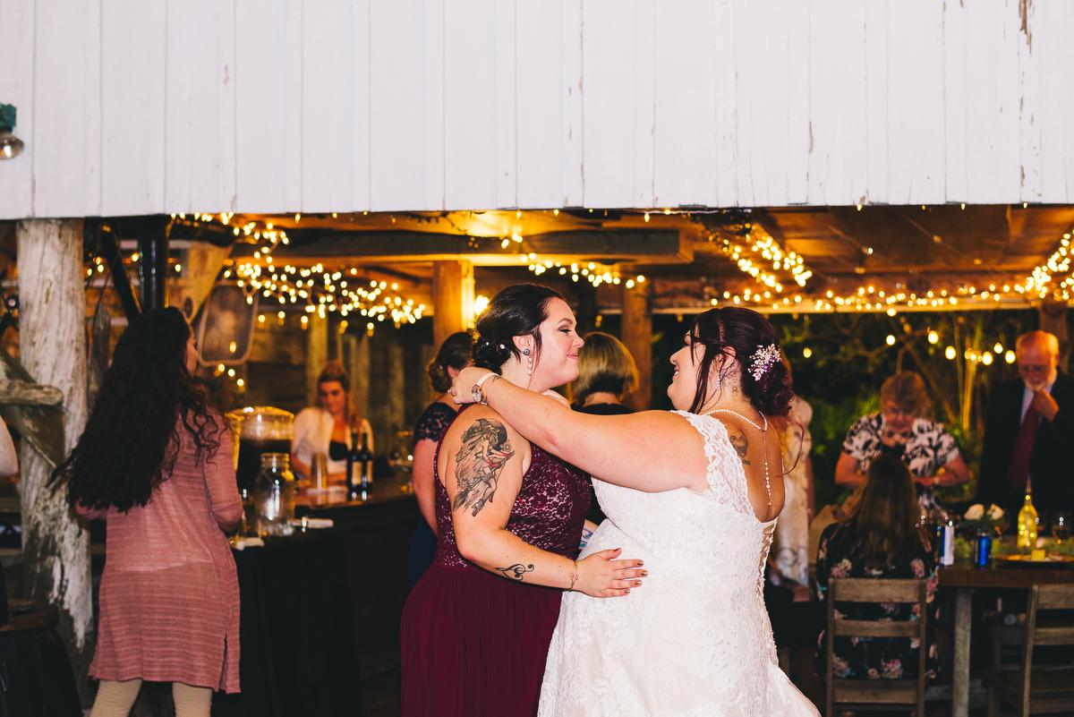 fairytale garden wedding vero beach florida samantha dancing with bridesmaid