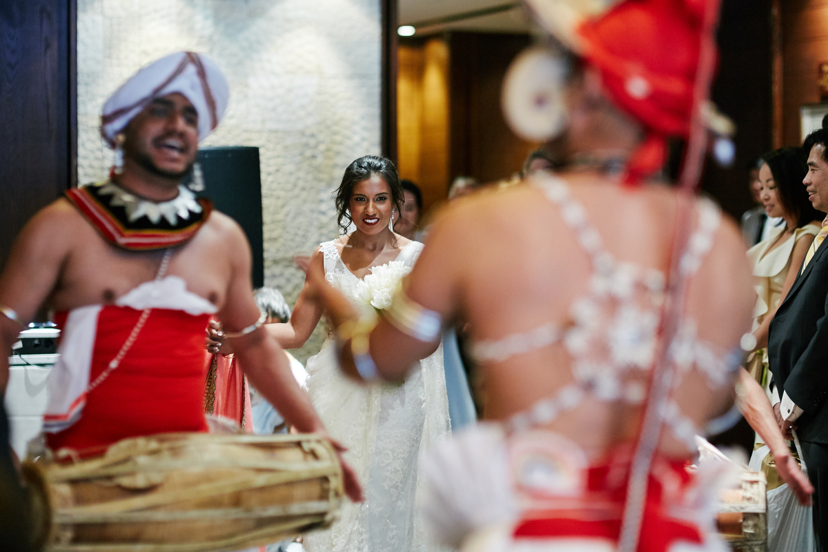 sri lankan, chinese, and harry potter wedding sydney australia hasara watching dancers