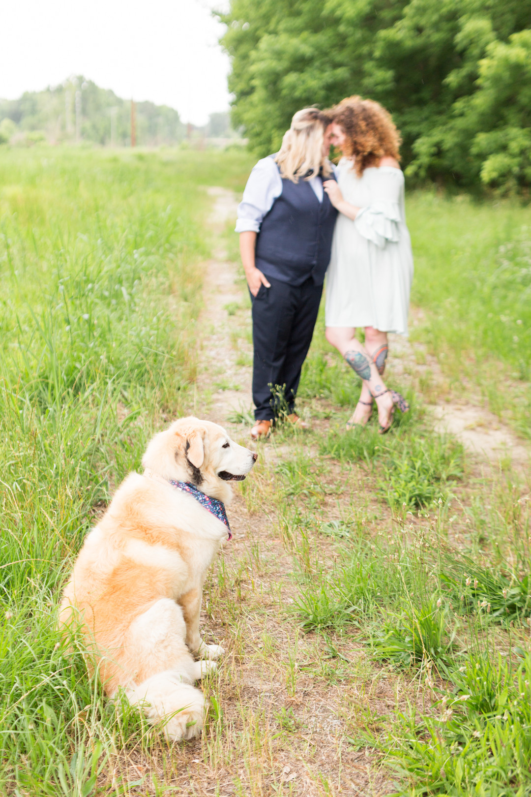 two brides embraced on trail newlywed portrait columbia south carolina jessica hunt photography