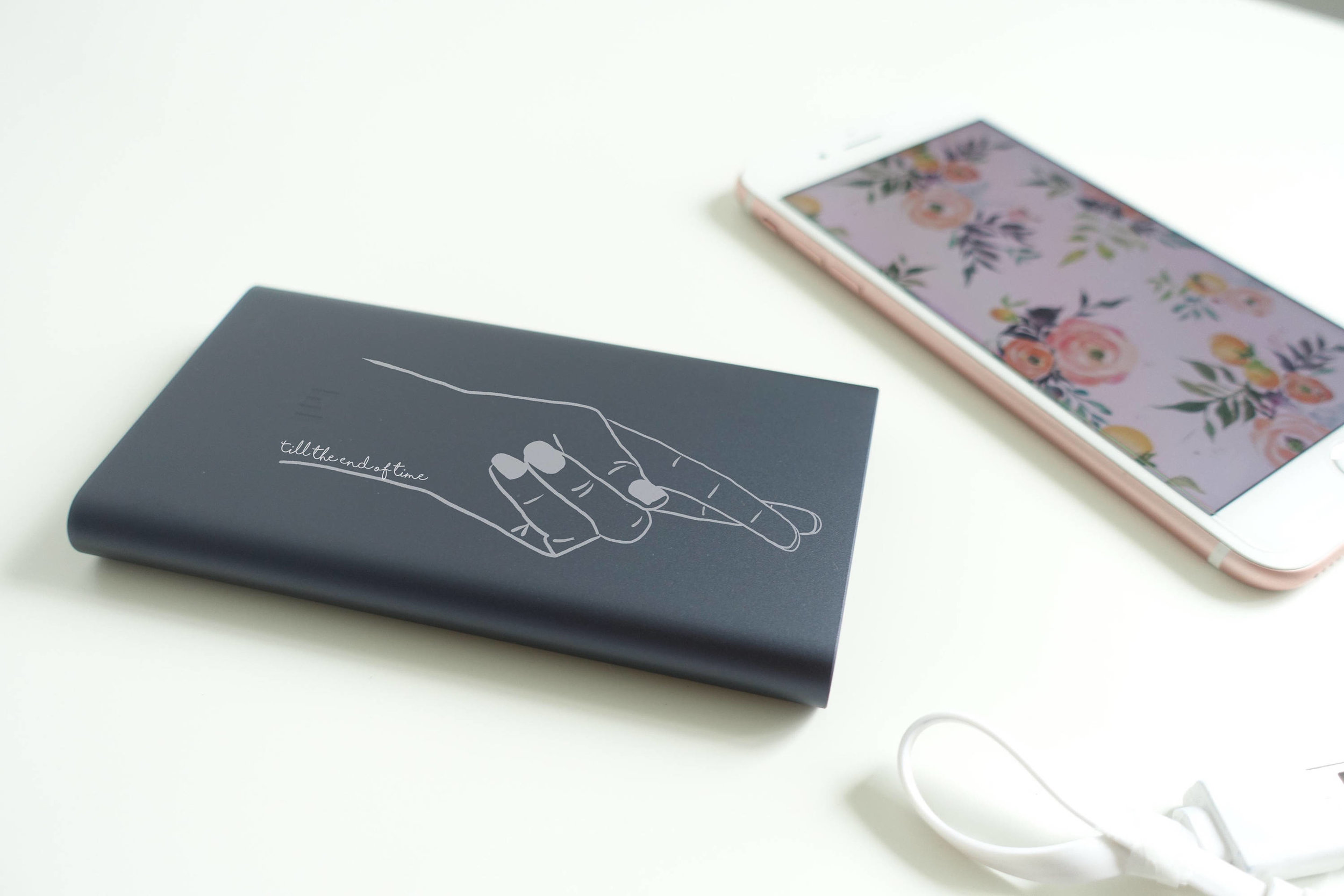 Personalized Fingers Crossed Power Bank by Metalphorically