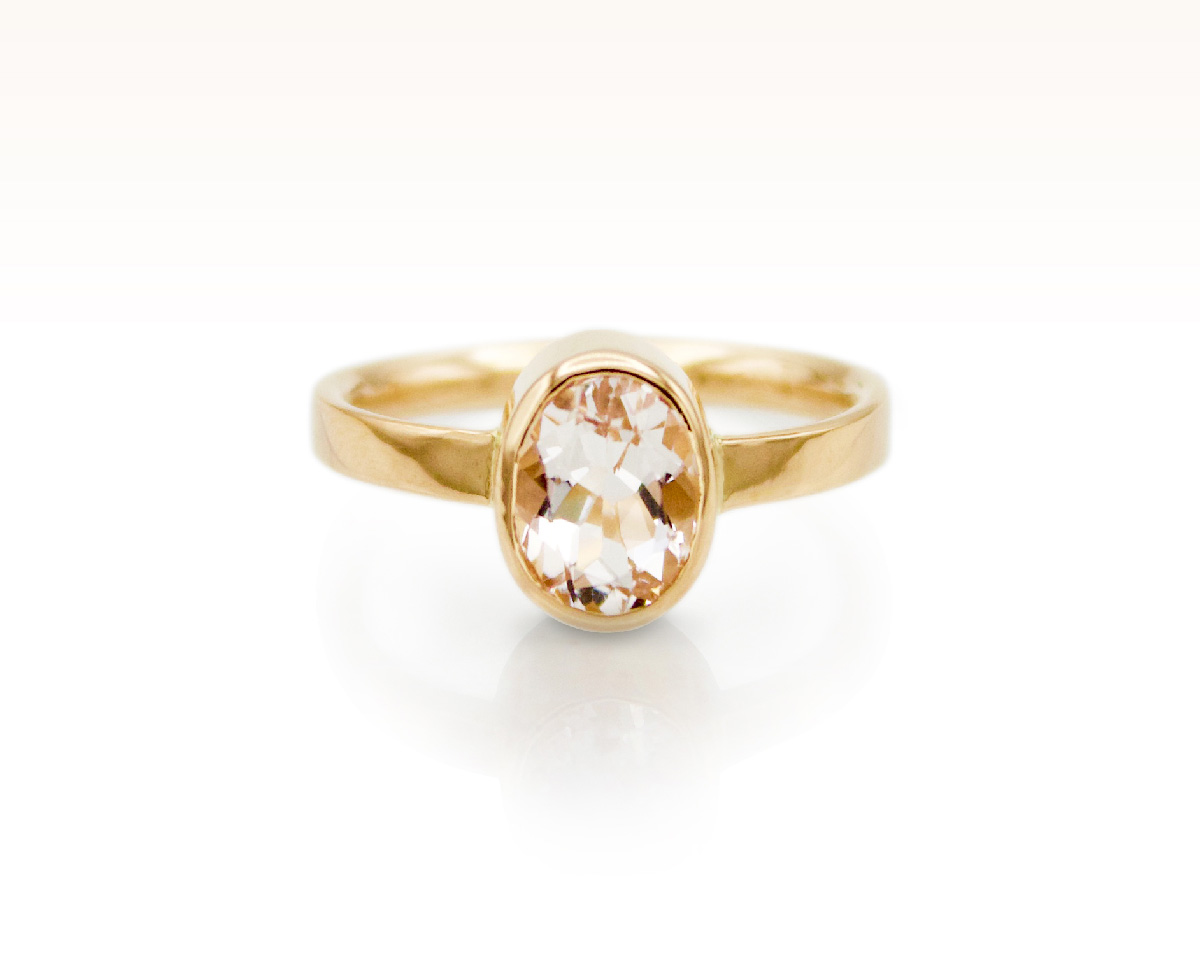 Blush Beryl Solitaire in 18K Rose Gold