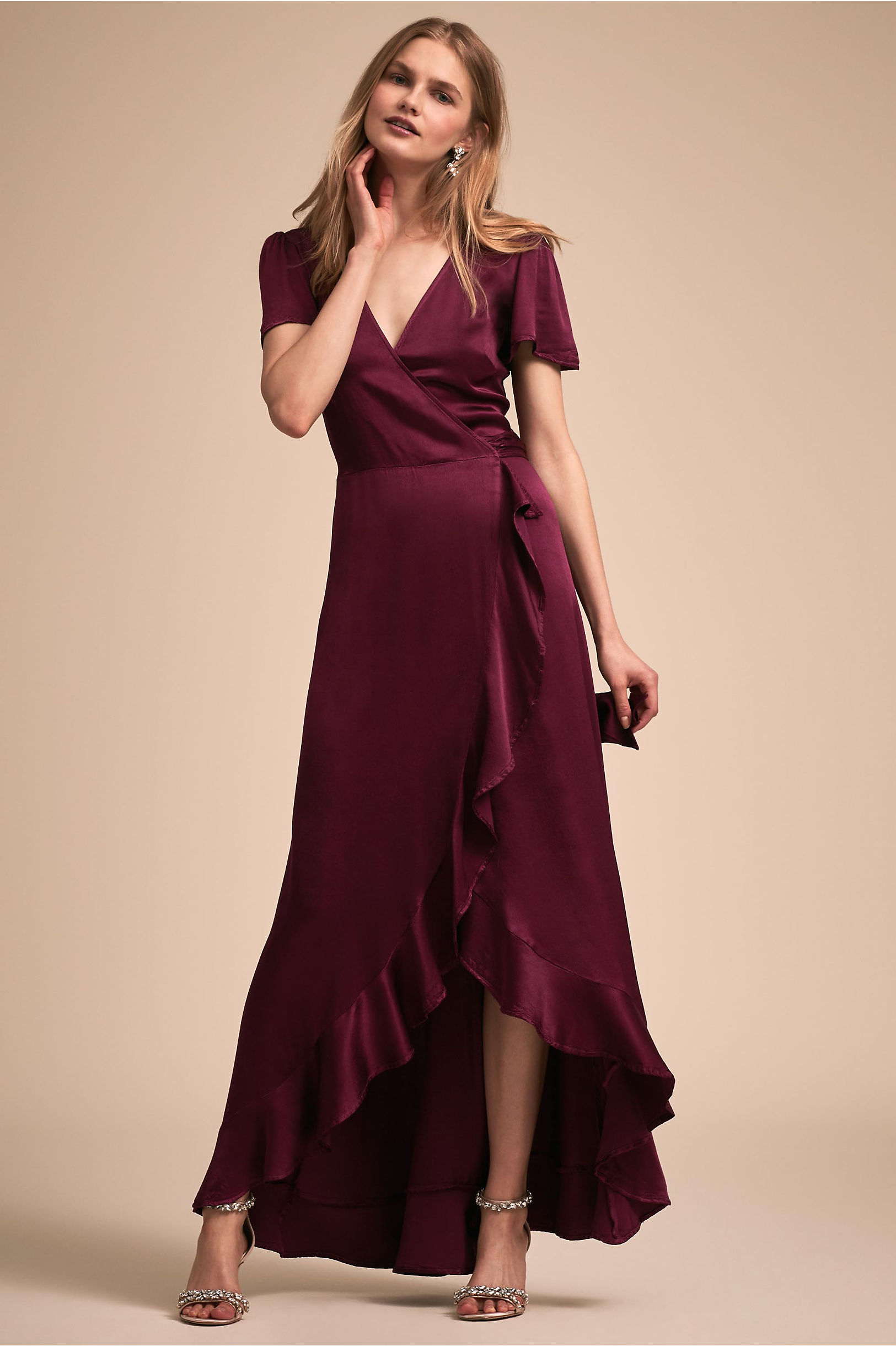 Phoebe Dress in Black Cherry by BHLDN