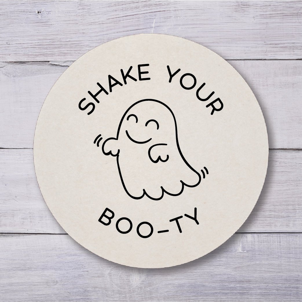 Shake your boo-ty ghost wedding reception beverage coasters