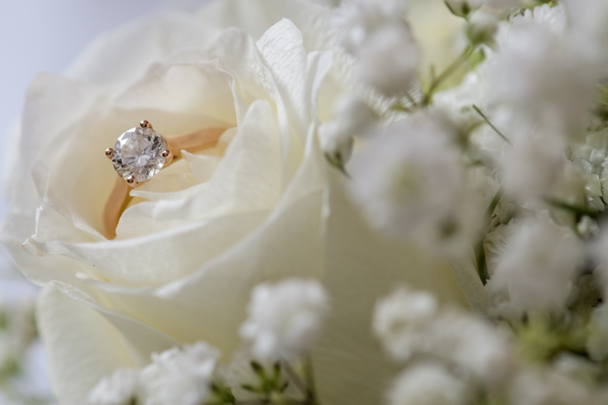 sri lankan wedding in sydney australia engagement ring inside blooming rose