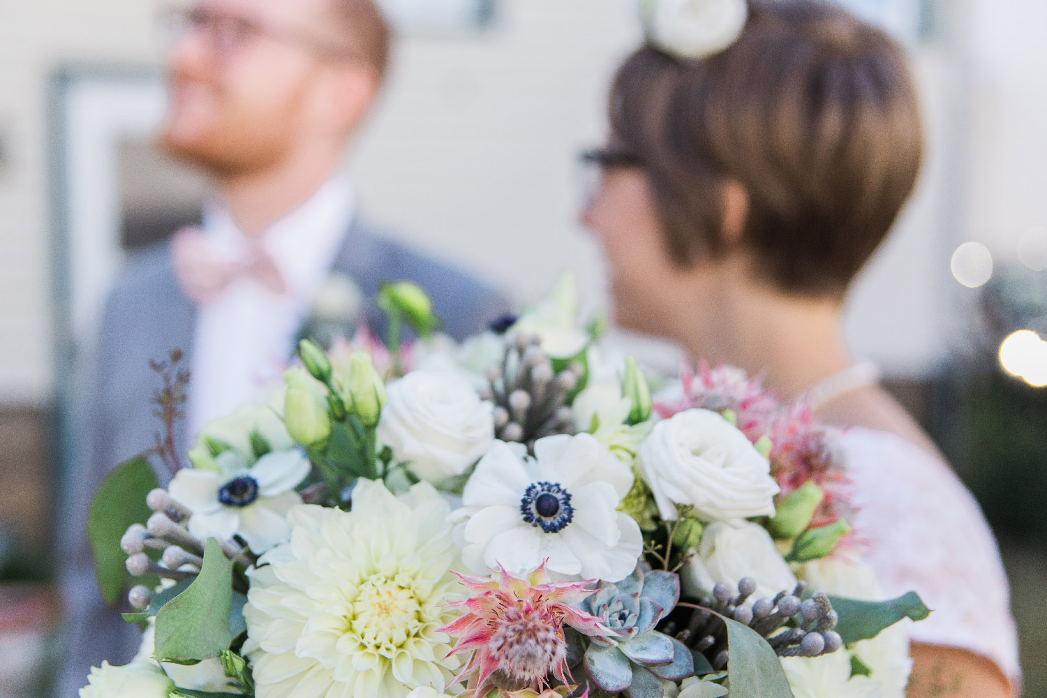 DIY floral wedding bouquet for backyard wedding in Cleveland Ohio Lea Marie Photography