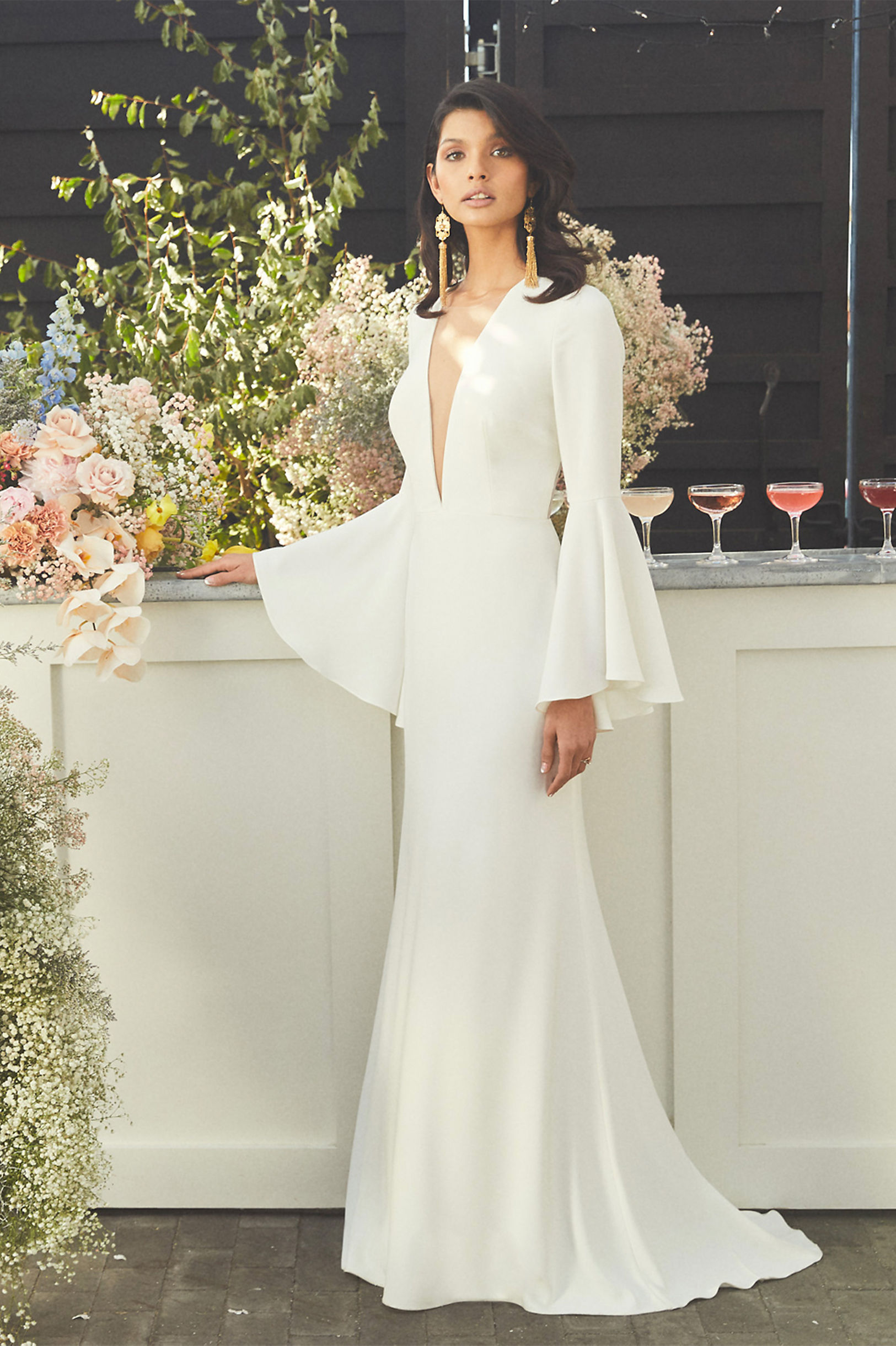 Caine Gown front view BHLDN 2019 Spring Wedding Collection