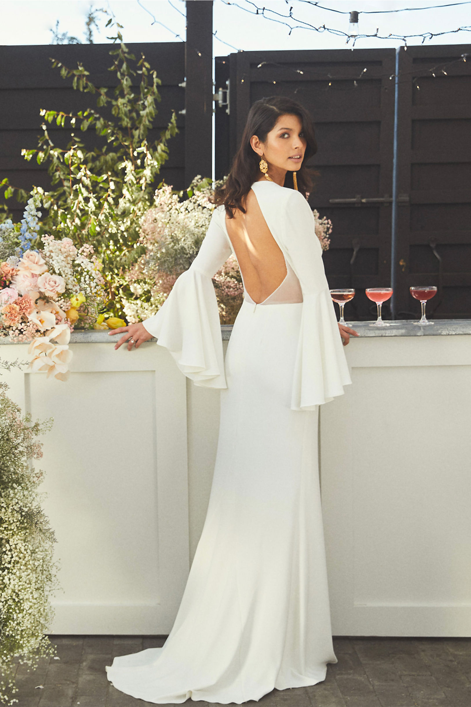Caine Gown back view BHLDN Spring 2019 Wedding Collection