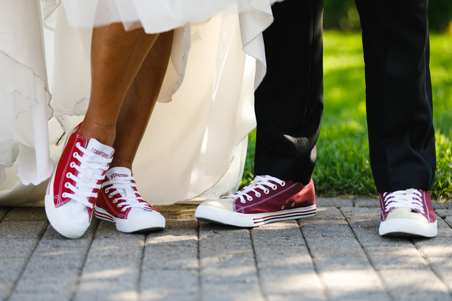 african american, christian, and muslim traditions minneapolis wedding couple in custom chuck taylors