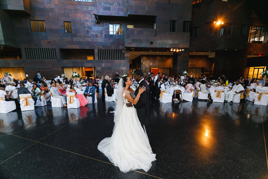 african american, christian, and muslim traditions minneapolis wedding glenn and taara on dance floor
